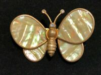 Vintage Large Butterfly Pin Trembler with Hologram Wings
