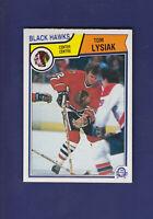 Tom Lysiak 1983-84 O-PEE-CHEE OPC Hockey #107 (NM+) Chicago Blackhawks