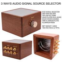 3 Ways Hifi Audio Signal Sources Selector Switch Box Splitter 3 Input 1 Output