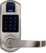 Scyan X9 fingerprint touchscreen door lock, non-handed, Satin Nickel