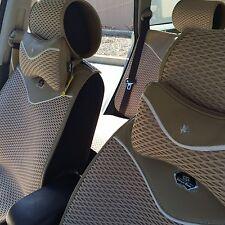 Seat Cover Shift Knob Steering Wheel Cushion Beige Cloth 3D Design 43001c