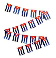 30ft String Flag Set of 20 Cuba Cuban 12x18 Bunting Flag Banner Flags