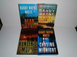 Lot of 4 Randy Wayne White Thrillers hardcover Doc Ford Hannah Smith !!
