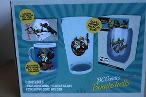 Harley Quinn Bombshells Mug and Glass Gift Box Set
