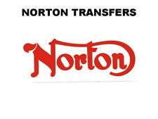 Norton Commando Tank Transfer Decal Classic Motorcycle D50211 Red