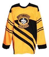 Custom Name # Pittsburgh Pirates Retro Hockey Jersey New 1925 Yellow Any Size