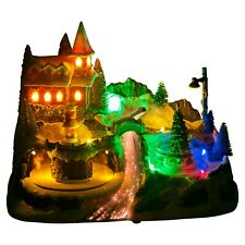 LED Light Up Christmas Festive Village Illuminated Decor Town Ornament Scene