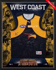 WEST COAST EAGLES 2017 AFL TEAM SIGNED FRAMED LIMITED EDITION JUMPER KENNEDY COA