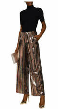 Robert Rodriguez Striped Sequined Wide-Leg Pants Size X-Small MSRP $495