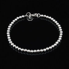 NEW CUTE sterling Silver Plated Fashion Bead women Chain Bracelet jewelry