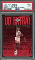 Michael Jordan Chicago Bulls 1998 Upper Deck Basketball Card #UDX PSA 9 MINT