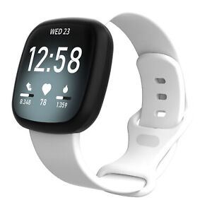 For Fitbit Versa 3/Sense Replacement Silicone Rubber Sports Band Strap Wristband