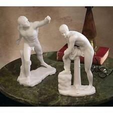Ancient Male Nude Gladiator & Hermes Bonded Marble Greek Sculpture Statue NEW