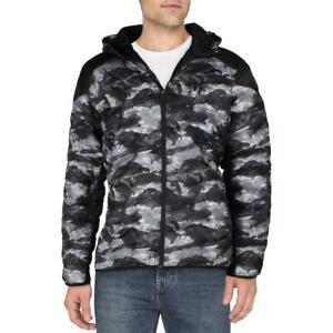Spyder Mens Black Quilted Winter Jacket Puffer Coat Outerwear XXL BHFO 5396