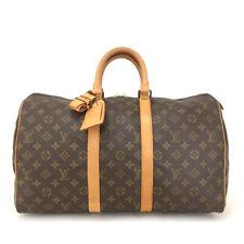 100% Authentic Louis Vuitton Monogram Keepall 45 Boston Travel Hand Bag /30364