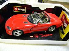 1/18 1992 DODGE VIPER RT/10 ROADSTER ORIGINAL BURAGO DIECAST CAR-MIB