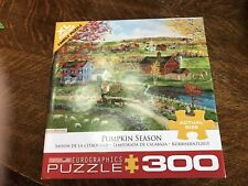 EUROGRAPHICS PUMPKIN Season 300 Large Piece Jigsaw Puzzle Complete very EUC