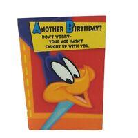 Vintage Birthday Card Roadrunner Looney Tunes Warner Bros Hallmark - NEW