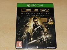 Deus Ex Mankind Divided Steelbook Day One Edition Xbox One **NEW & SEALED**