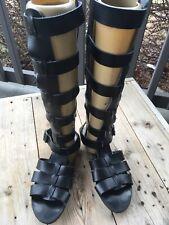 2f67742da3d Free People Republik Vegan Leather Gladiator Sandal by Faryl Robin Black  Size 7
