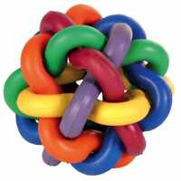 Dog Rope Chew Toys | Tough Strong Knot Ball | Pet Puppy Rubber Teething Squeaky