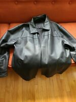 COVINGTON LEATHER JACKET Mens Size Xl Black zippered Very Good see description