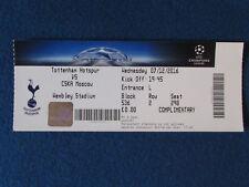 Tottenham Hotspur v CSKA Moscow - 7/12/2016 - Champions League Ticket