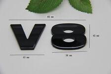 D420 V8 auto aufkleber 3D Emblem Badge Plakette Schriftzug car Sticker schwarz