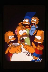 The Simpsons Treehouse of Horrors Animated Original 35mm Transparency Stamped