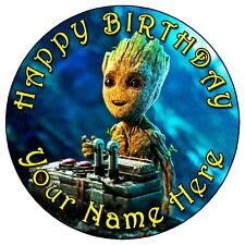 """Guardianes de la galaxia bebé bailarín - 7.5"""" Personalizado Glaseado Comestible Cake Topper"""