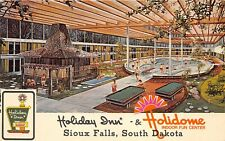 Sioux Falls Airport South Dakota 1970s Postcard Holiday Inn Motel Holidome