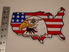 American Flag Eagle Head Bird Patch Iron Embroidered Applique Sew Badge DIY