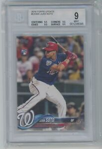 2018 Topps Update Series Juan Soto #US300 RC Rookie Nationals BGS 9 MINT