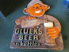 """VINTAGE GLUEK BEER SIGN 9""""X121/2"""""""