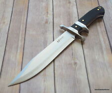 MTECH PAKKAWOOD HANDLE HUNTING BOWIE KNIFE WITH SHEATH - 14.75 INCH OVERALL