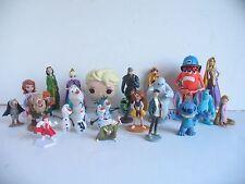 DISNEY Cake Topper PVC Toy Lot Frozen Merida Big Hero Monsters Inc Lilo Stitch 8
