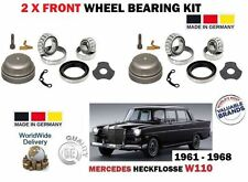 FOR MERCEDES HECKFLOSSE W110 1959-1968 NEW 2 X FRONT WHEEL BEARING KITS