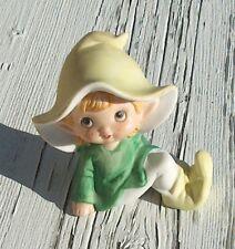 Homco 5213 Elf Pixie Fairy Porcelain Figurine Green