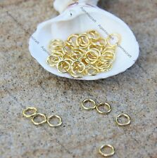 9g 100+ Gold plated brass strong open jump rings 5x0.9mm craft design beading