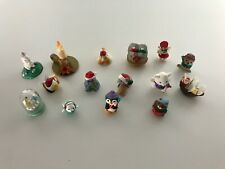 Vintage Hallmark Merry Miniatures Christmas Lot Of 15 Gold Stickers