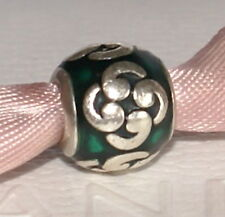 Genuine Pandora Sterling Silver Green Comma charm