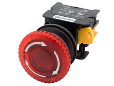 MBL22 ATI Red 22mm Emergency Stop Push Button Switch 120V LED Illuminatd