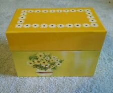 Ohio Art Company Bryan Yellow Flowers Metal Recipe Box