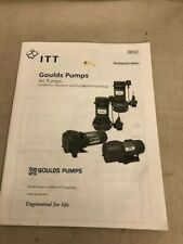 ITT Goulds Pumps JEt Pumps, Installation, Operation and Troubleshooting Manual