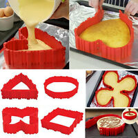 4PCS Silicone Cake Mold Magic Bake Snakes DIY Nonstick Tray Baking Mould Tools