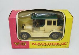 Vintage MATCHBOX LESNEY~ Y3 BENZ LIMOUSINE 1910 MINT IN BOX