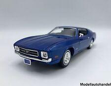 Ford Mustang sportsroof metallic-azul 1971 - 1:24 Motormax