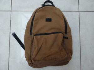 Fred Perry brown fabric rucksack bag.