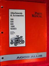 AGCO ALLIS 500,600,800,1800 series RIDING MOWER ATTACHMENTS-ACCESS. PARTS MANUAL