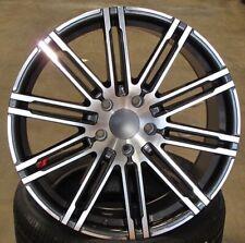 "21 Inch Machined Gunmetal Wheels Fits Porsche Cayenne Q7 Touareg 21"" 5x130 Set 4"